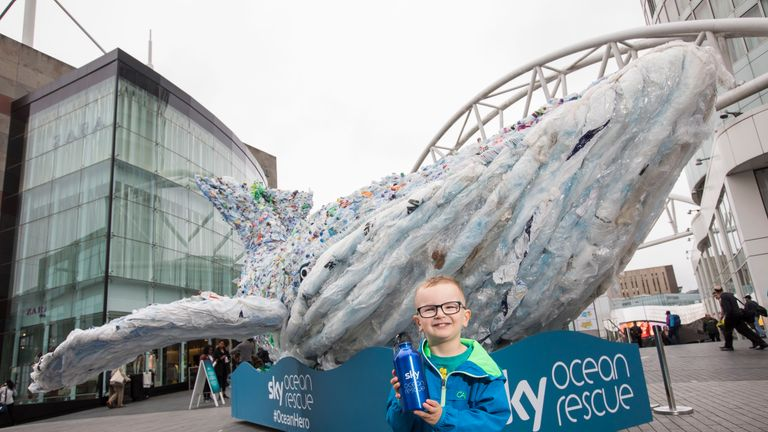 Plasticus the whale will be at Wembley on Monday evening