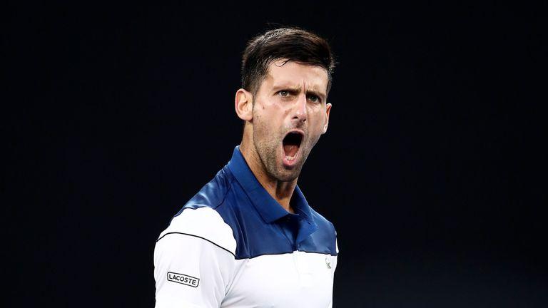 Novak Djokovic is back in action again in the desert