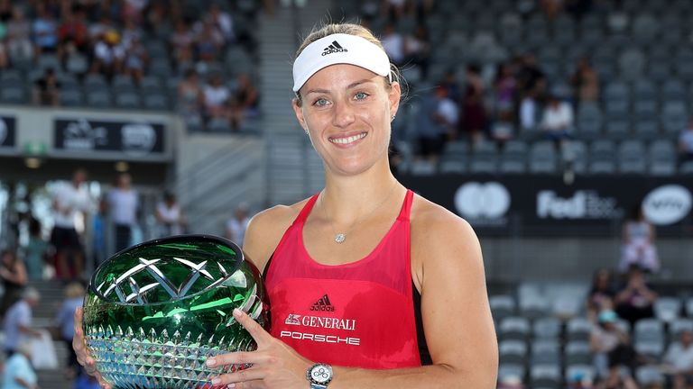 Angelique Kerber was victorious at the WTA Sydney International