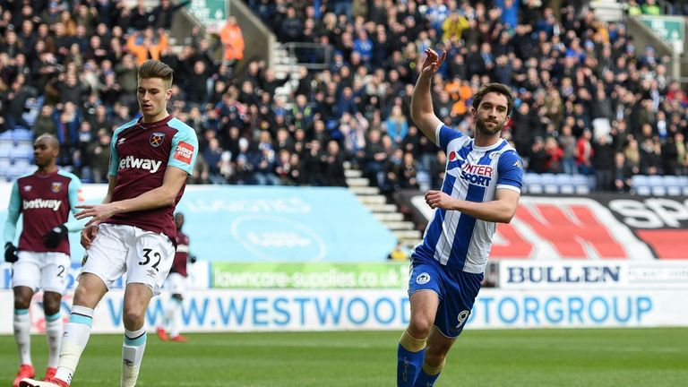 Wigan Athletic striker Will Grigg failed to score for the league leaders.