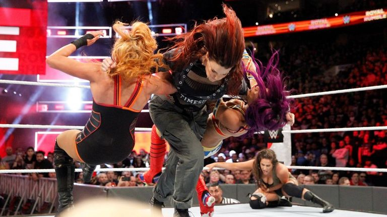 WWE staged the first women's Royal Rumble earlier this year