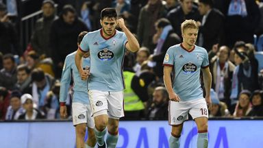 Maxi Gomez scored twice for Celta Vigo on Saturday