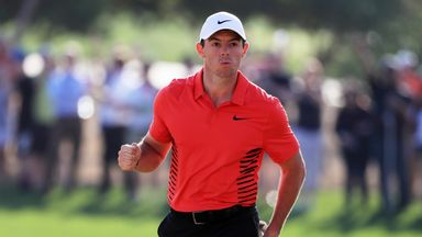 Rory McIlroy will be hoping to kick his season off with a victory in Abu Dhabi on Sunday