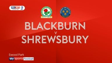 Blackburn 3-1 Shrewsbury