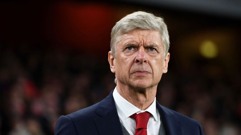 Arsene Wenger prior to kick-off before the Premier League match between Arsenal and Chelsea at Emirates Stadium
