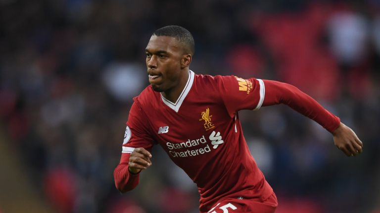LONDON, ENGLAND - OCTOBER 22:  Daniel Sturridge of Liverpool runs with the ball during the Premier League match between Tottenham Hotspur and Liverpool at