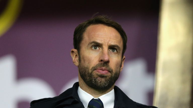 BURNLEY, ENGLAND - DECEMBER 23: England Manager Gareth Southgate looks on during the Premier League match between Burnley and Tottenham Hotspur at Turf Moo
