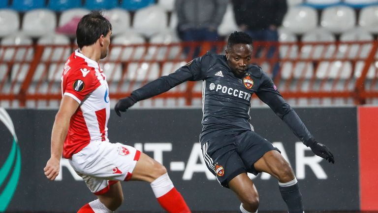 Ahmed Musa, on loan from Leicester, featured for CSKA Moscow in the goalless first leg