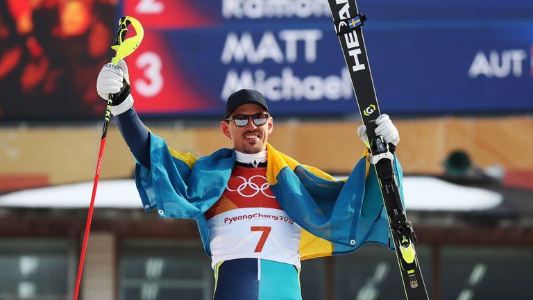Andre Myhrer of Sweden won gold in the men's slalom