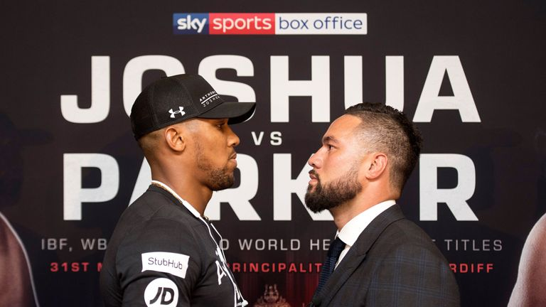 Joseph Parker faces Anthony Joshua at the Principality Stadium in Cardiff on March 31, live on Sky Sports Box Office