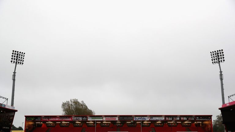 The temporary south stand was constructed following Bournemouth's promotion to the Championship in 2013