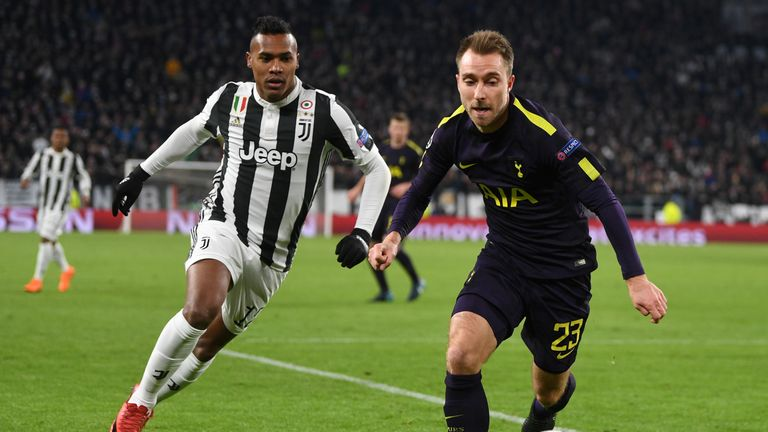 Christian Eriksen equalised for Spurs in the 71st minute