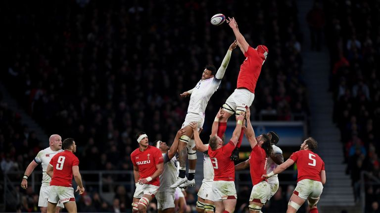 Cory Hill was Wales' go-to man at the lineout on Saturday