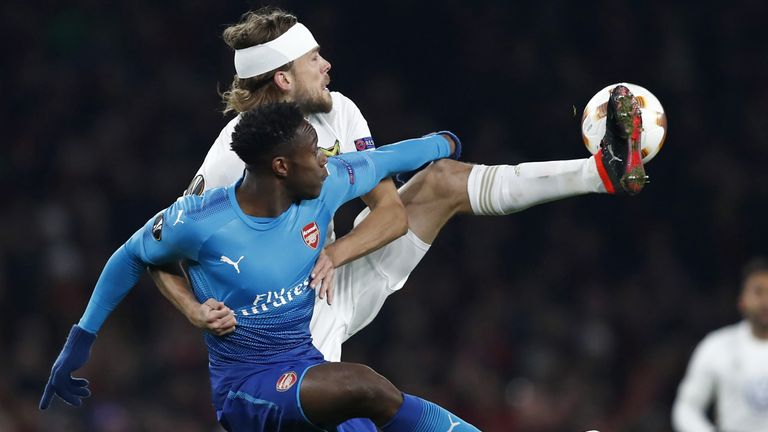 Danny Welbeck struggled to make an impact against Ostersunds