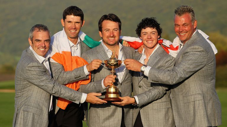 All four major winners in the roster appeared at the 2010 Ryder Cup, where Paul McGinley was a vice-captain