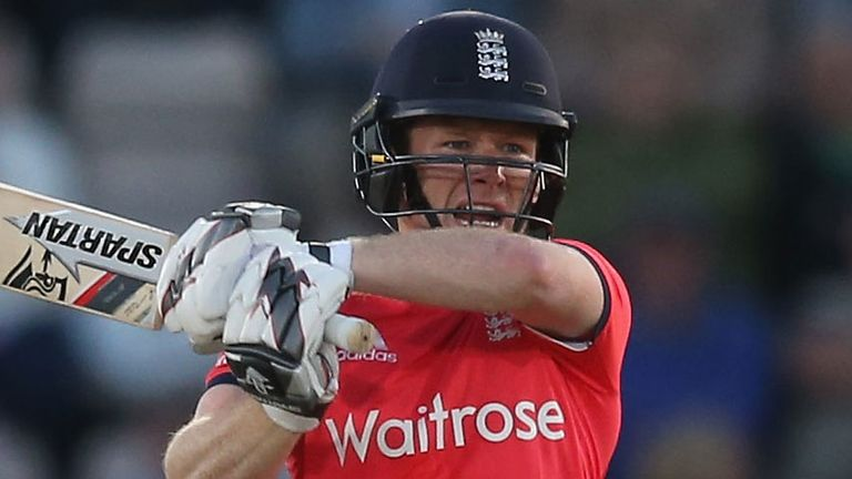 Eoin Morgan missed the defeat to Australia on Sunday
