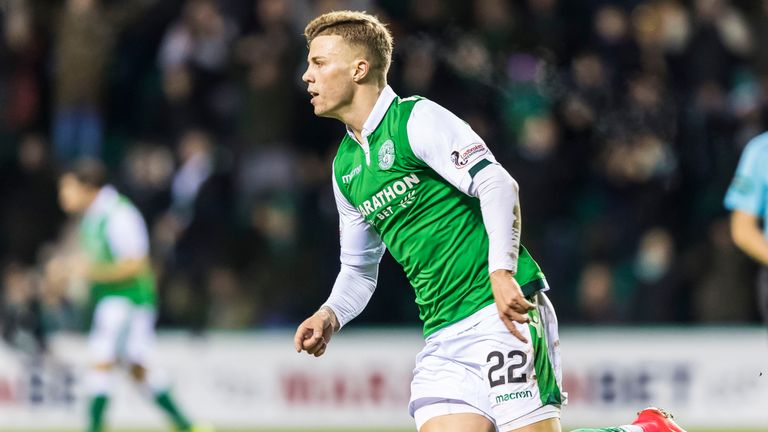 Florian Kamberi has scored three goals in his six appearances since joining Hibernian on loan in January.