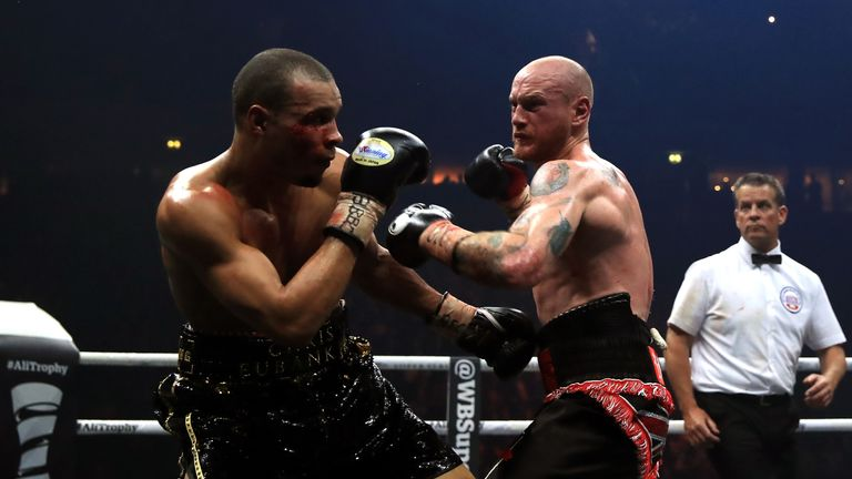Eubank Jr's right eye was cut early in the Manchester showdown