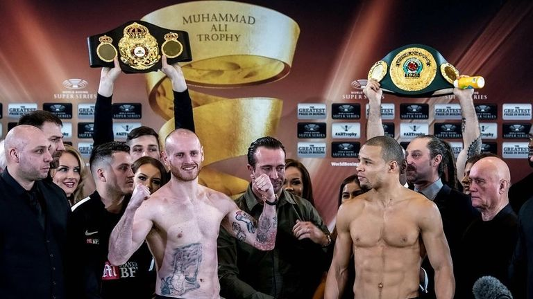 George Groves and Chris Eubank hit the scales (World Boxing Super Series)
