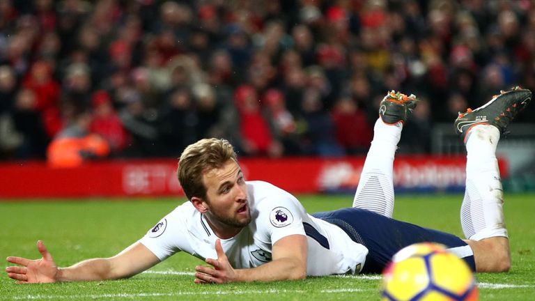 Harry Kane has hit back at Virgil van Dijk's claims that he dived at Anfield
