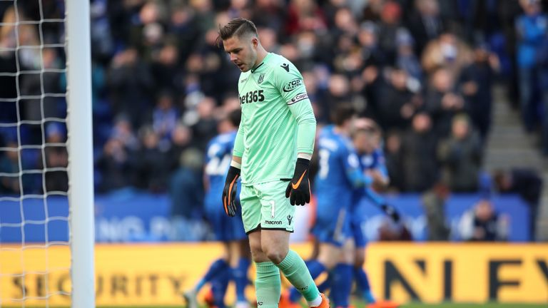 Jack Butland has been breached more times than any other Premier League goalkeeper