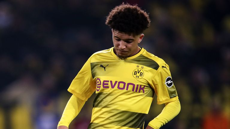 Jadon Sancho has impressed Borussia Dortmund's coaching staff