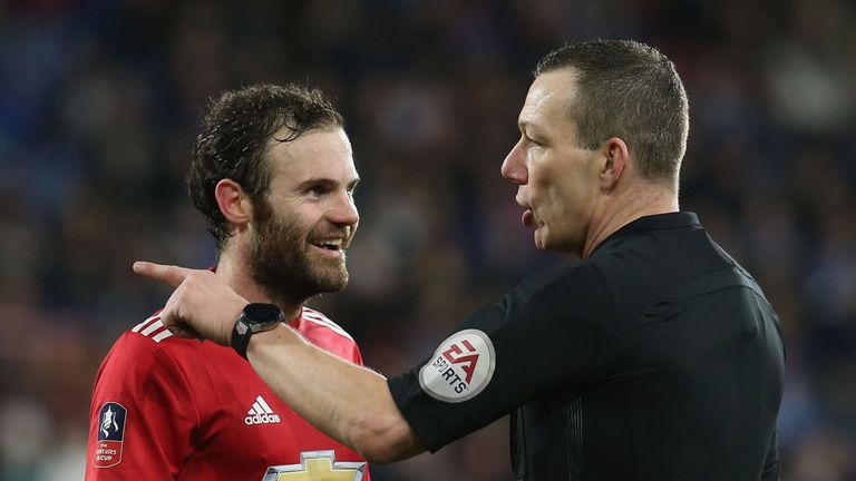 VAR was used to disallow Juan Mata's goal against Huddersfield in the Premier League in contentious fashion