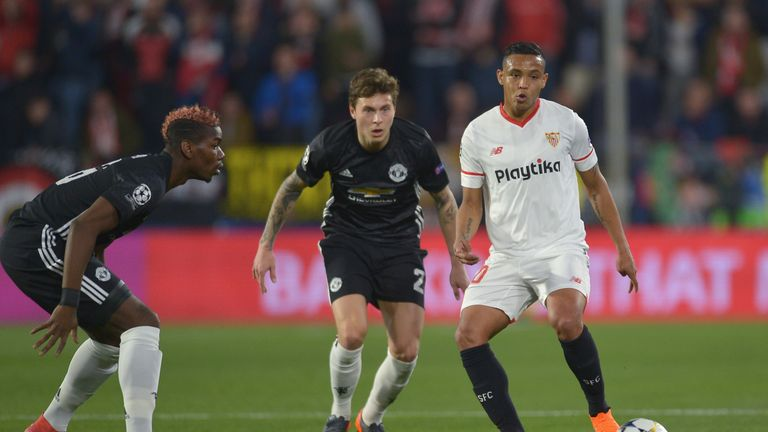 Manchester United and Sevilla played out a goalless draw in the first leg