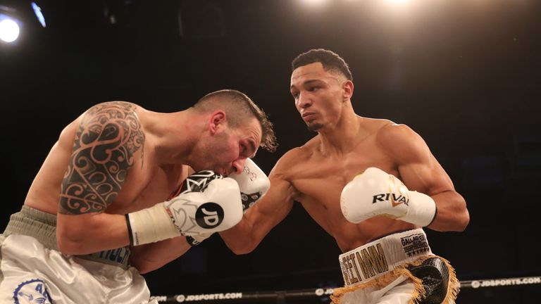 Marcus Morrison claimed an early stoppage win earlier in the evening