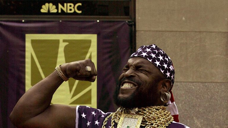 Actor Mr. T has been cheering on the USA men and women's curling teams