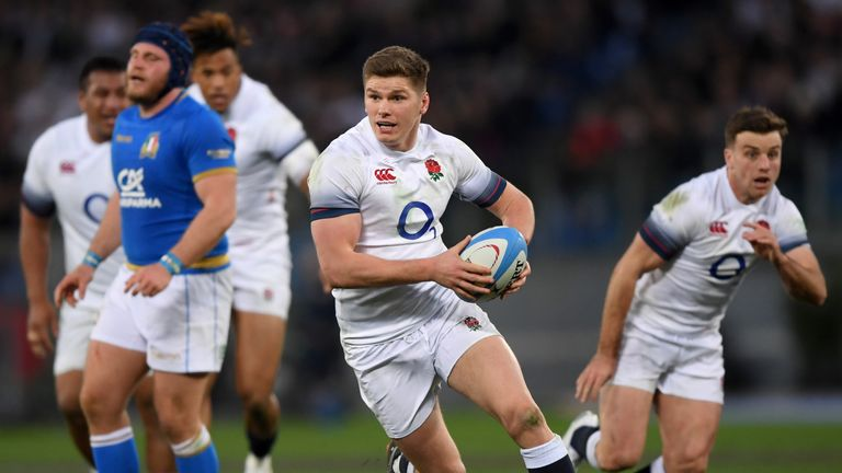 England's Owen Farrell was the game's outstanding player against Wales