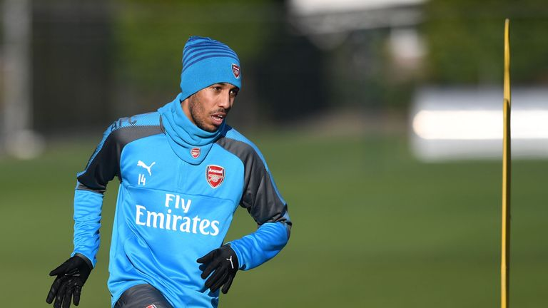 Pierre-Emerick Aubameyang will be assessed ahead of Arsenal's match against Everton