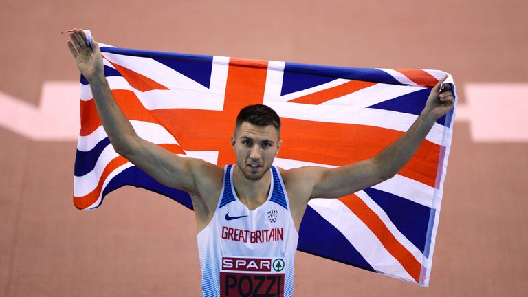 Andrew Pozzi is building up for the Commonwealth Games in Australia