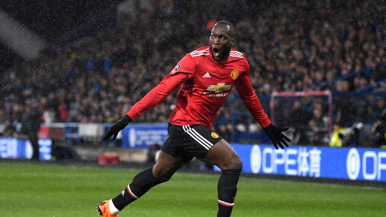 Romelu Lukaku scored twice in United's FA Cup win at Huddersfield