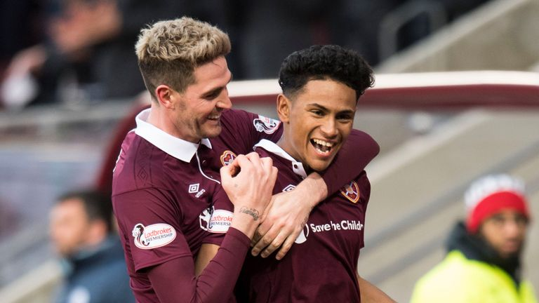 Manchester United left-back Demetri Mitchell (right) is a transfer target for Hearts manager Craig Levein