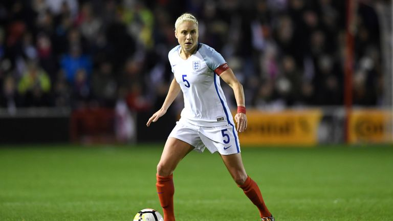 England captain Steph Houghton has an ankle injury and will miss the SheBelieves Cup