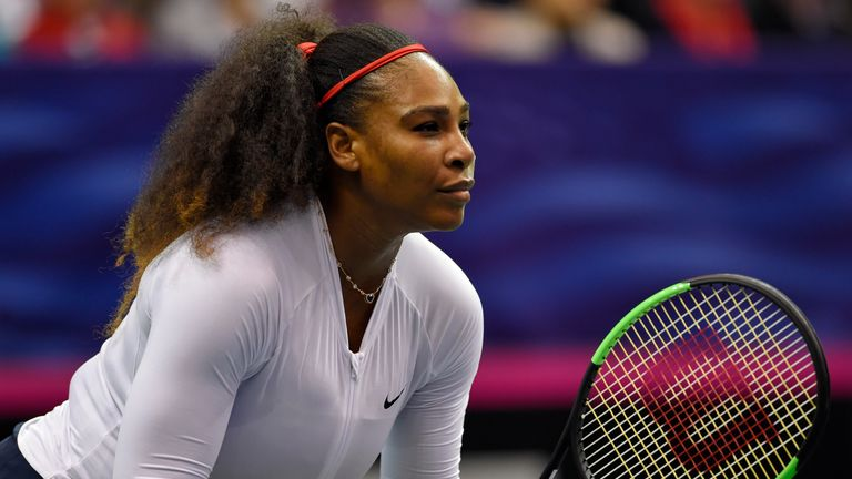 Serena Williams was beaten alongside her sister Venus