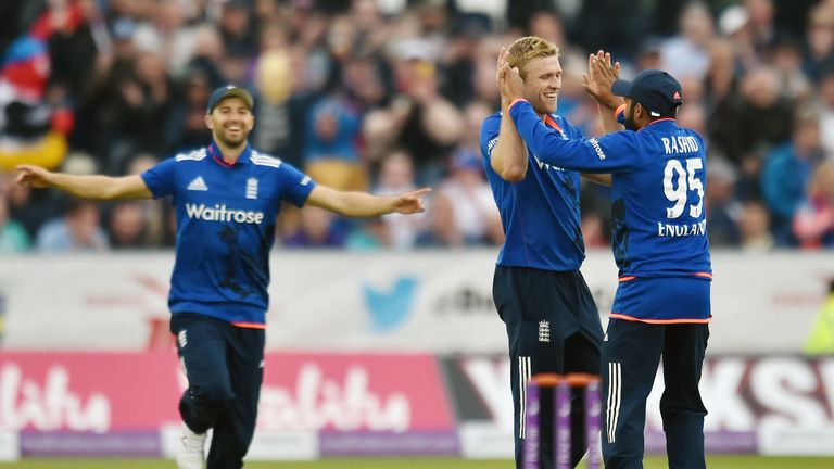 David Willey and Adil Rashid. (Sky Sports)