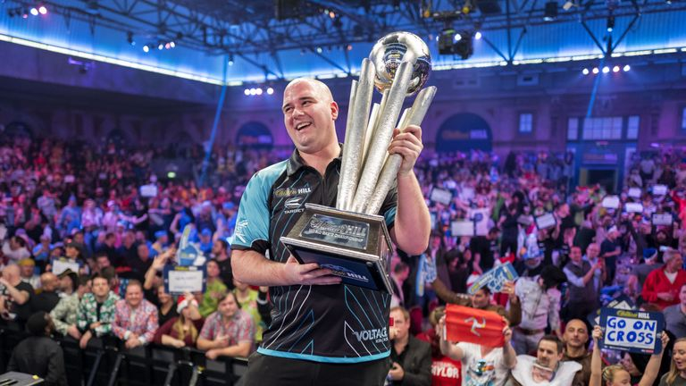 Rob Cross' whirlwind debut year culminated in him winning the World Championship