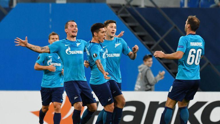 剩余一场比赛,泽尼特在俄罗斯超级联赛中排名第五