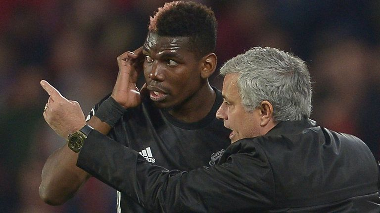 Jose Mourinho (right) and Paul Pogba's relationship became a big talking point for Man Utd last season