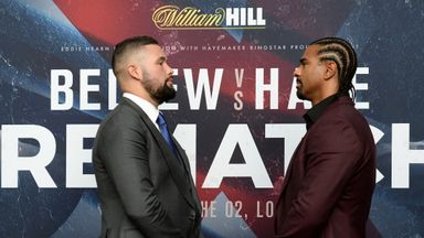 Tony Bellew (left) and David Haye went face-to-face in London again