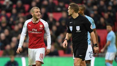 Jack Wilshere was unimpressed with some of Craig Pawson's decisions