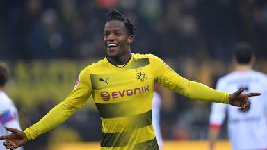 Michy Batshuayi scored for Dortmund against Hamburg