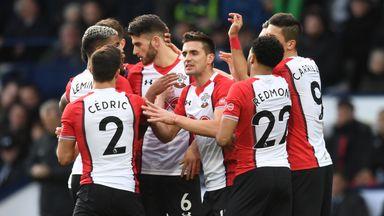 Southampton celebrate Dusan Tadic's strike at West Brom