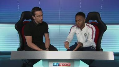 fifa live scores - Nissan Match Zone: Raheem Sterling with Gary Neville