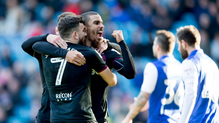 Lewis Grabban celebrates his equaliser during the Sky Bet Championship match against Sheffield Wednesday