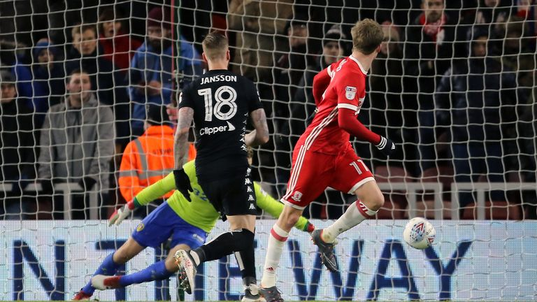 Bamford opens the scoring for Middlesbrough