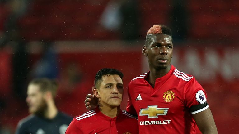 Paul Pogba (right) is a doubt for Tuesday's clash