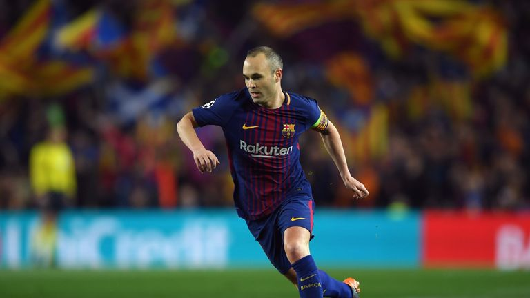 Andres Iniesta says he will make a decision on his Barcelona future by the end of next month